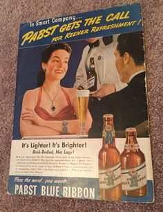A personal favorite from my Etsy shop https://www.etsy.com/listing/253522545/vintage-beer-ad
