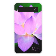 Lilac Lotus Flower Power Bank - beautiful gift idea present diy cyo