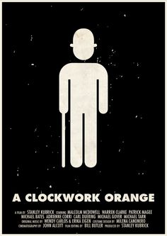 A Clockwork Orange [Stanley Kubrick, 1971] «Stanley Kubrick Pictogram Movie Posters Author: Viktor Hertz»