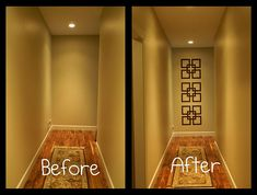 Look what a little paint at the end of the hall did!!  Forever Decorating blog