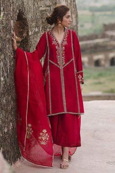 Designer suits for wedding are the reigning MVP of the festive season. We shine the spotlight on some memorable styles to inspire you to find the perfect look! Pakistani Formal Dresses, Pakistani Dress Design, Pakistani Outfits, Velvet Pakistani Dress, Pakistani Party Wear, Stylish Dress Designs, Stylish Dresses, Indian Designer Suits, Embroidery Suits Design