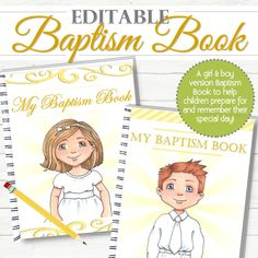 Christ and child 6 printable perfect for baptism gifts easter editable boy and girl baptism bookjournal instant download negle Gallery