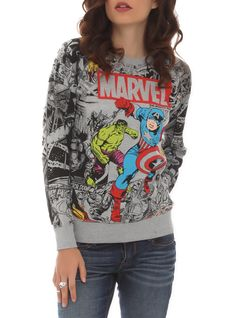 2 for 1 i think yes! Grey reversible pullover with a large color accented Avengers design on one side and a smaller black print on the other.