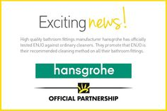 hansgrohe partners with ENJO! Exciting News, Check It Out, Household, Cleaning, Life