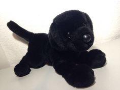 "BLACK LAB Puppy Dog Plush Douglas Cuddle Toys Stuffed Animal 10"" tall 13"" long #DouglasCuddleToys"