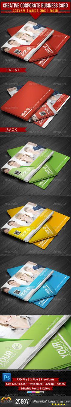 Creative Corporate Business Card --------------------------------------- check out this #creative #design #business_card  http://graphicriver.net/item/creative-corporate-business-card/4575450?WT.ac=portfolio_1=portfolio_author=25EGY=25EGY
