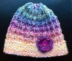 Knitting With Looms: Olivia's Rainbow Hat