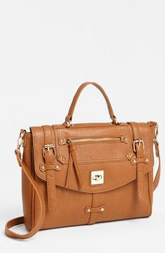 Street Level Faux Leather Crossbody Satchel (Juniors) available at #Nordstrom