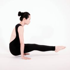 calm to your core floating stick pose  challenging arm