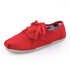 Chalaza Red Womens Cordones Toms Shoes-toms shoes clearance,
