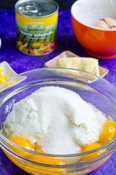 Pasca fara aluat - Din secretele bucătăriei chinezești Pavlova, Easy Desserts, Food To Make, Panna Cotta, Deserts, Ice Cream, Sugar, Cookies, Breakfast
