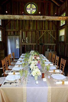 Reception for Beautiful Barn Wedding