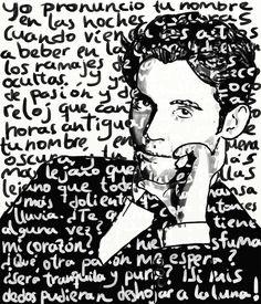 Obra: Federico García Lorca Caligrama Artista: Juan Nepomuceno - Arttroop