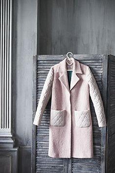Пальто комбинированное от Yulia Topolnikova