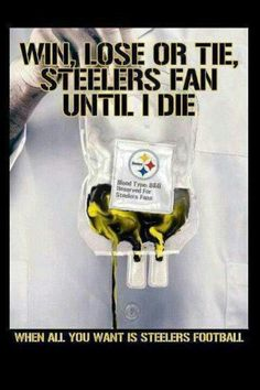 I'm a Steelers Fan til the day I die- I tell everybody I bleed black and gold