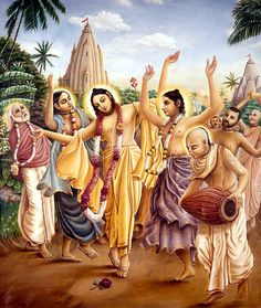 """Life and pastimes of Sri Krishna Chaitanya Mahaprabhu. """"Most of His contemporary biographers have mentioned certain anecdotes regarding Caitanya which are simple records of His early miracles… Arte Krishna, Krishna Leela, Krishna Radha, Hare Rama Hare Krishna, Hare Krishna Mantra, Krishna Bhajan, Saints Of India, Lord Jagannath, Srila Prabhupada"""