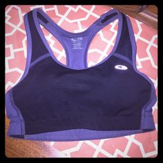 Champion DuoDry C9 sports bra Black and gray sports bra with mesh detail throughout the back. Comes with padding. Brand new and perfect condition just doesn't fit me  Champion Intimates & Sleepwear Bras