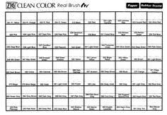 Kuretake Zig Clean Colour Real Brush Markers Colour Chart - TOP TIP: FIll in the…