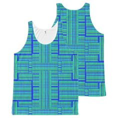 blue green plaid tank top  $36.90  by ch_ch_cheerful  - cyo diy customize personalize unique