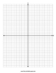 This graph paper with added axis is great for plotting math functions. Printable Graph Paper, Free Printables, Drawing Designs, Designs To Draw, Paper Size, Grid, Pdf, Lettering, Teaching