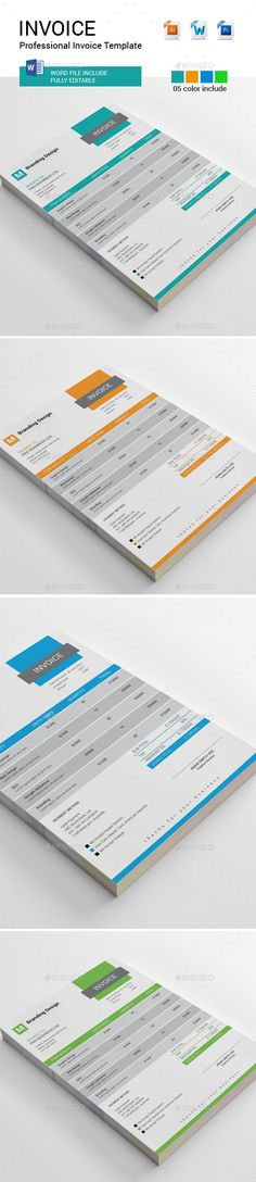 MS Word Invoice Template Template, Business proposal and - invoice template editable