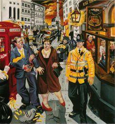 Night Hawks Charing Cross by Ed Gray