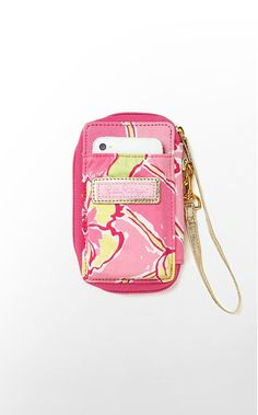 Liilly Pulitzer carded ID wristlet..gotta have it. wallet and phone holder in one!
