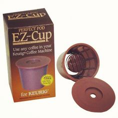 EZ Cup pods for Keurig coffee makers. Reusable and can be filled with your favorite brand of tea or coffee.