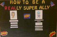 Superhero Allyship Board