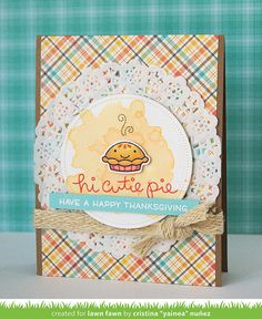 My paper journey: Perfectly Plaid Fall & Cutie Pie - Lawn Fawn August release week