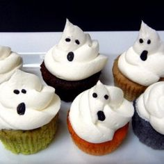 Ghost cupcakes - someone please make these!