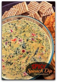 Easy Spicy Spinach Dip recipe. This is the perfect appetizer for any party.
