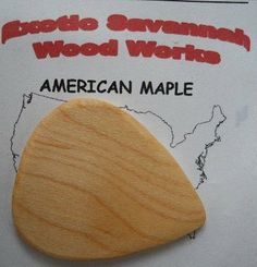 Maple Wood Guitar Picks Buy 1 Get 1 Free by HandMade. $6.99. Eliminates any brassy tones. Creates a rich tone. Solid Maple Wood. Maple wood guitar picks. These wooden picks were developed for a local band by request. The picks performed so much better than regular plastic picks that I decided to share them. The picks are the same size and thickness of standard guitar picks so there is nothing to get used to.