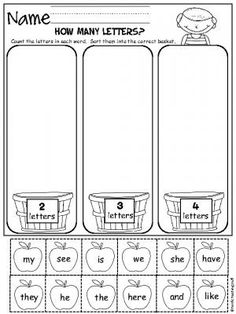 Sorting Worksheets for Kindergarten. 20 sorting Worksheets for Kindergarten. Bug sorting Worksheet Paging Supermom Kindergarten Language Arts, Kindergarten Centers, Kindergarten Worksheets, Kindergarten Activities, Kindergarten Apples, Back To School Worksheets, Literacy Stations, Math Literacy, Maths
