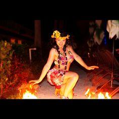 Badass chicks that do FIRE! www.echoesofhawaii.com #hula #hawaiian #miami #dance #dancer #fire #polynesian #entertainment #hire #florida