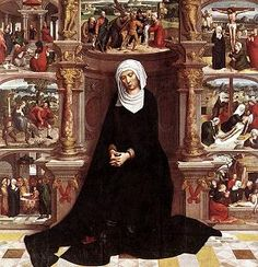 The Seven Sorrows Devotion.  The Blessed Virgin Mary grants seven graces to the souls who honor her daily by saying seven Hail Mary's and meditating on her tears and dolors (sorrows).  The devotion was passed on by St. Bridget.