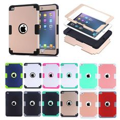 For Ipad mini 4 Retina Kids Safe Armor Shockproof Heavy Duty Silicone Hard Case Cover For Apple IPad Mini4 tablet bags Y2A14D  — 686.3 руб. —