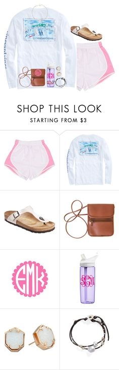 """""""Rollin' with them good vibes🤙🏻"""" by livnewell ❤ liked on Polyvore featuring Birkenstock, CamelBak, Kendra Scott, Chan Luu and Ela Rae"""