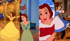 I love all of Belle's outfits from Beauty and the Beast.  I read somewhere that the color of her dresses reflects her mood at the time, and, if you think about it, that's quite true.