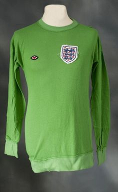 Peter Shilton's match worn shirt from World Cup Qualifying defeat to Poland in 1973