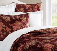Sabyasachi Mystic Garden Reversible Print Quilt F/Q Warm Multi Maroon Bedroom, Pottery Barn Bedrooms, Mystic Garden, Home Furniture, Outdoor Furniture, Sabyasachi, Bedding Sets, Master Bedroom, Quilts