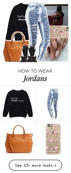 ehh... by lowkeytayy on Polyvore featuring Tory Burch, Casetify and Retrò