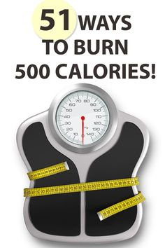 Here is a list of 51 activities that can each help you to burn 500 calories. #weightloss