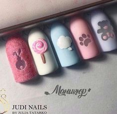 80 Awesome Acrylic Almond Nails Designs - We are not ready to live a dull day, we favor a colorful life, in order to match stunning, vivid ap - Almond Nails Designs, Nail Designs, Nail Manicure, Gel Nails, Baby Nails, Baby Nail Art, French Nails, Luxury Nails, Creative Nails