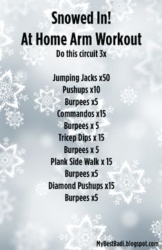 This post may contain affiliate links. See affiliate disclaimer here. Try this bodyweight workout when you can't get out of the house but still crave a workout!  More from my siteDitch the Carbs: Why You Need to Try the Keto Diet NOW!One Song Workouts + PlaylistMust Have Essentials for Building Your Home Gym5 Ways…Continue reading ➞ Snowed In! Full Body Workout: No Equipment Required
