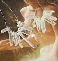 Dark Crystal Necklace by Erica Weiner Artisan Jewelry, Antique Jewelry, Designer Friends, The Dark Crystal, Bracelet Designs, Crystal Necklace, Jewelry Box, Jewellery, Flower Girl Dresses