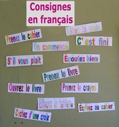 consignes en francais