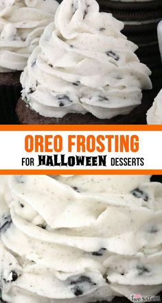 really is the Best Oreo Frosting for Halloween Desserts. Creamy and sweet and delicious, you'll never need another Oreo Halloween Frosting recipe! It is so easy to make and boy will it be delicious on your Halloween Treats! Cookies And Cream Frosting, Oreo Frosting, Oreo Buttercream, Frosting Recipes, Halloween Desserts, Halloween Treats, Halloween Foods, Diy Halloween, Oreo Dessert