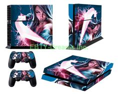 EBTY-Dreams Inc. - Sony Playstation 4 (PS4) - Psylocke Marvel Universe X-Men Vinyl Skin Sticker Decal Protector