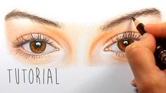 Tutorial | How to draw, color realistic eyes with colored pencils - step...